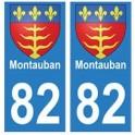 82 Montauban blason autocollant plaque stickers ville