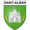 Stickers coat of arms Saint-Alban adhesive sticker
