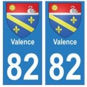 82 Valence blason autocollant plaque stickers ville