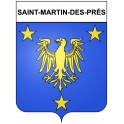 Saint-Martin-des-Prés 22 ville Stickers blason autocollant adhésif