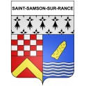 Stickers coat of arms Saint-Samson-sur-Rance adhesive sticker