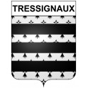 Stickers coat of arms Tressignaux adhesive sticker