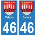 46 Cahors blason autocollant plaque stickers ville