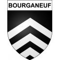 Bourganeuf 23 ville Stickers blason autocollant adhésif