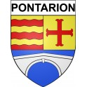 Pontarion 23 ville Stickers blason autocollant adhésif