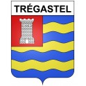 Stickers coat of arms Trégastel adhesive sticker