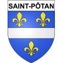 Stickers coat of arms Saint-Pôtan adhesive sticker