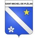Stickers coat of arms Saint-Michel-de-Plélan adhesive sticker