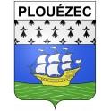 Stickers coat of arms Plouézec adhesive sticker