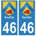 46 Souillac blason autocollant plaque stickers ville