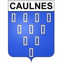 Caulnes 22 ville Stickers blason autocollant adhésif