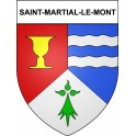 Stickers coat of arms Saint-Martial-le-Mont adhesive sticker