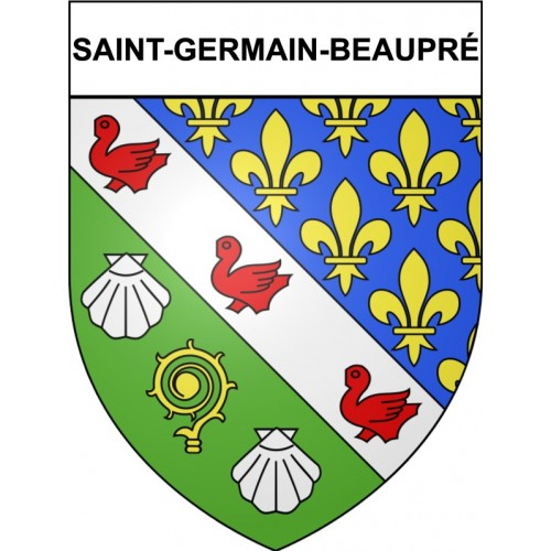 Stickers coat of arms Saint-Germain-Beaupré adhesive sticker