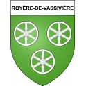 Stickers coat of arms Royère-de-Vassivière adhesive sticker
