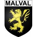 Malval Sticker wappen, gelsenkirchen, augsburg, klebender aufkleber