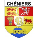Stickers coat of arms Chéniers adhesive sticker