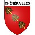 Chénérailles 23 ville Stickers blason autocollant adhésif