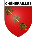 Stickers coat of arms Chénérailles adhesive sticker