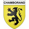 Stickers coat of arms Chamborand adhesive sticker