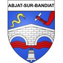 Stickers coat of arms Abjat-sur-Bandiat adhesive sticker