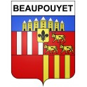 Stickers coat of arms Beaupouyet adhesive sticker
