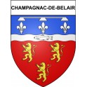 Stickers coat of arms Champagnac-de-Belair adhesive sticker