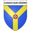 Condat-sur-Vézère 24 ville Stickers blason autocollant adhésif