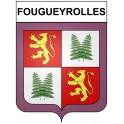 Fougueyrolles 24 ville Stickers blason autocollant adhésif