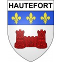 Hautefort 24 ville Stickers blason autocollant adhésif