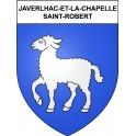 Stickers coat of arms Javerlhac-et-la-Chapelle-Saint-Robert adhesive sticker