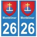 26 Montélimar blason autocollant plaque stickers ville