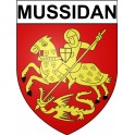 Mussidan 24 ville Stickers blason autocollant adhésif