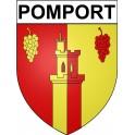 Pomport 24 ville Stickers blason autocollant adhésif