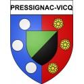 Pressignac-Vicq 24 ville Stickers blason autocollant adhésif