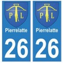 26 PierreLatte blason autocollant plaque stickers ville