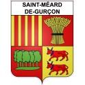 Stickers coat of arms Saint-Méard-de-Gurçon adhesive sticker