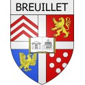 Stickers coat of arms Breuillet adhesive sticker