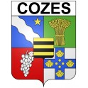 Stickers coat of arms Cozes adhesive sticker