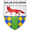 Stickers coat of arms Dolus-d'Oléron adhesive sticker
