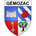 Stickers coat of arms Gémozac adhesive sticker
