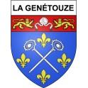 Stickers coat of arms La Genétouze adhesive sticker