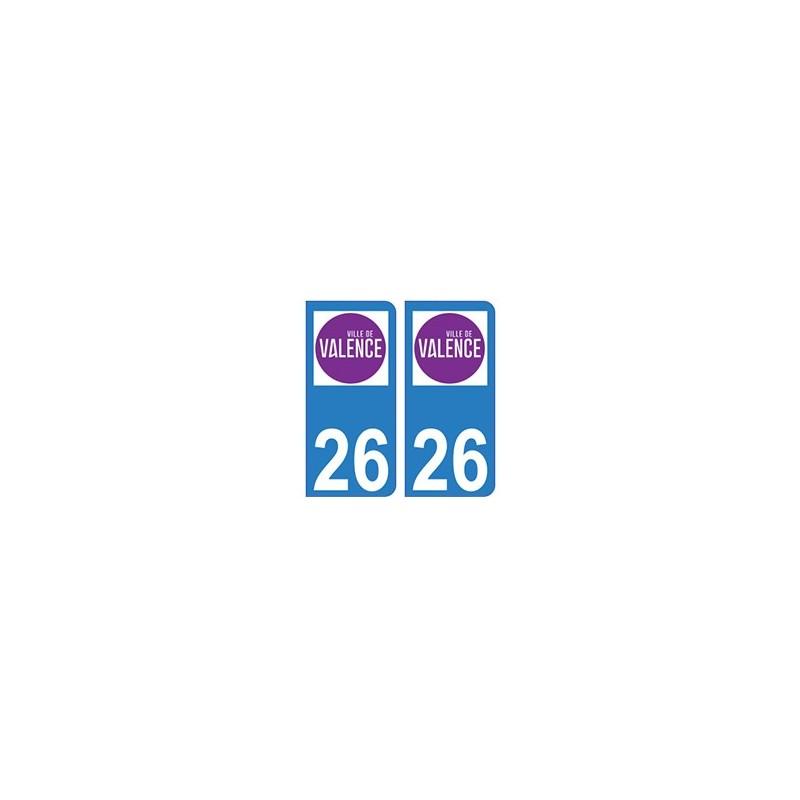 26 valence logo autocollant plaque immatriculation blason armoiries stickers d partement. Black Bedroom Furniture Sets. Home Design Ideas