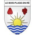 Le Bois-Plage-en-Ré 17 ville Stickers blason autocollant adhésif
