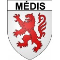 Stickers coat of arms Médis adhesive sticker