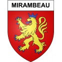 Stickers coat of arms Mirambeau adhesive sticker