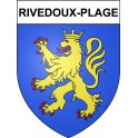 Stickers coat of arms Rivedoux-Plage adhesive sticker