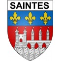 Stickers coat of arms Saintes adhesive sticker