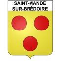 Saint-Mandé-sur-Brédoire 17 ville Stickers blason autocollant adhésif