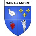 Stickers coat of arms Saint-Xandre adhesive sticker