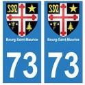 73 Bourg-Saint-Maurice blason autocollant plaque immatriculation ville